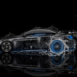 BMW M4 Coupe Side Water Car 2014