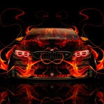BMW M4 Tuning Front Fire Abstract Car 2014