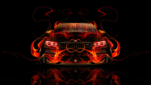 BMW-M4-Tuning-Front-Fire-Abstract-Car-2014-HD-Wallpapers-design-by-Tony-Kokhan-[www.el-tony.com]
