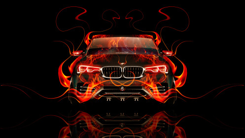 BMW-X4-Front-Fire-Abstract-Car-2014-HD-Wallpapers-design-by-Tony-Kokhan-[www.el-tony.com]