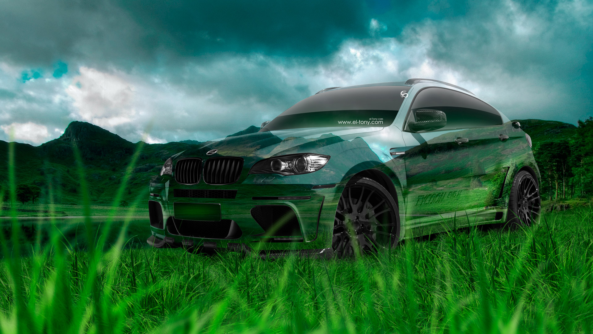 BMW X6 Hamann Tuning Crystal Nature Car 2014
