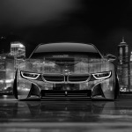 4K BMW i8 Front Crystal City Car 2014