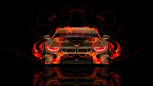 BMW-i8-Front-Fire-Abstract-Car-2014-HD-Wallpapers-design-by-Tony-Kokhan-[www.el-tony.com]