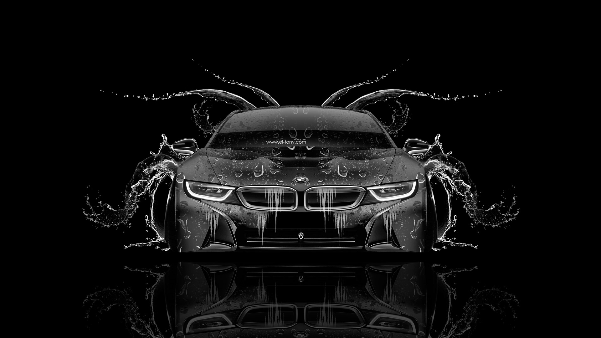 Bmw I8 Front Water Car 2014 El Tony