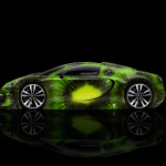 4K Bugatti Veyron Side Kiwi Aerography Car 2014