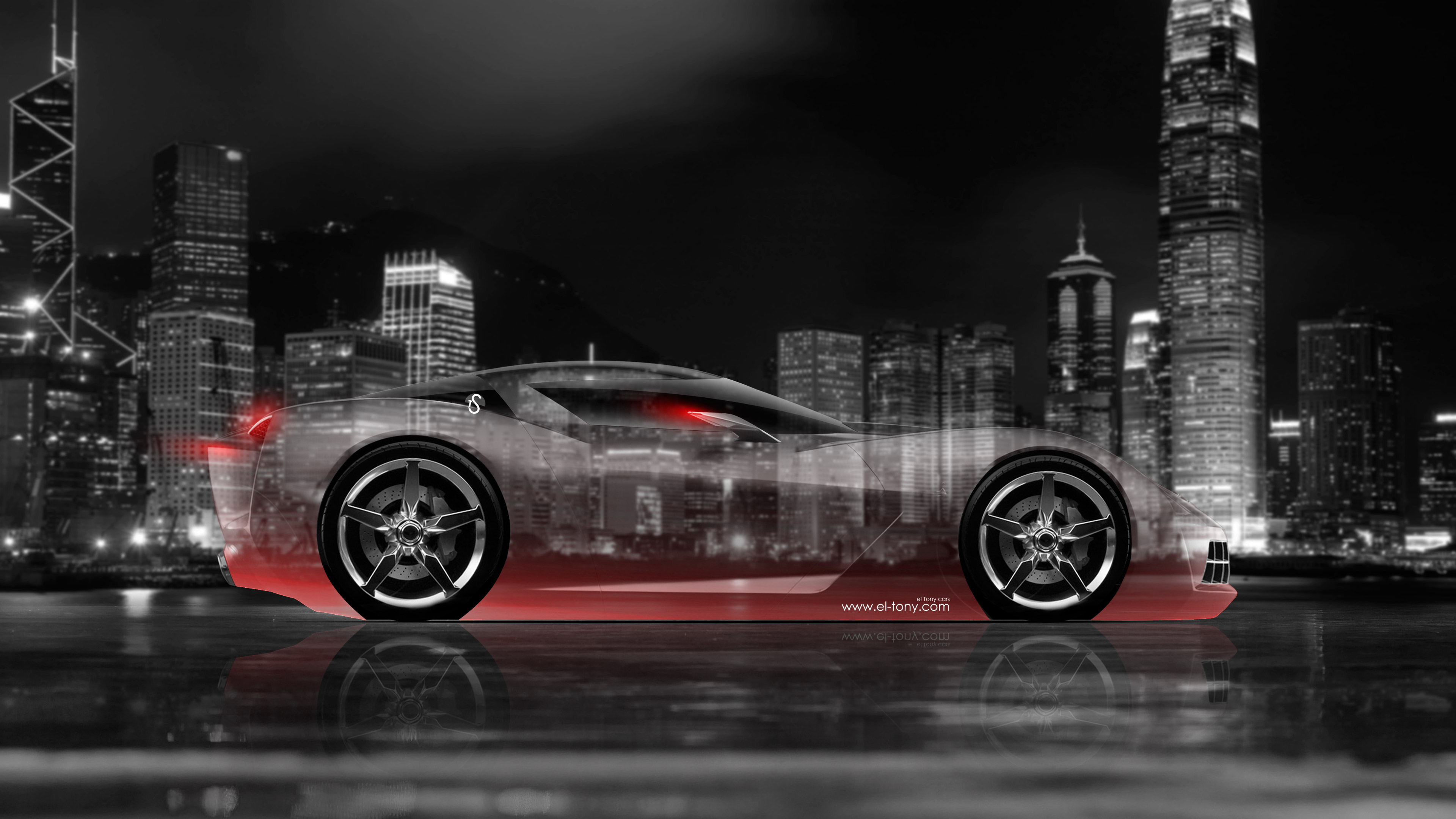 4k Chevrolet Corvette Stingray Side Crystal City Car 2014