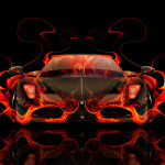 Ferrari Enzo Front Fire Abstract Car 2014