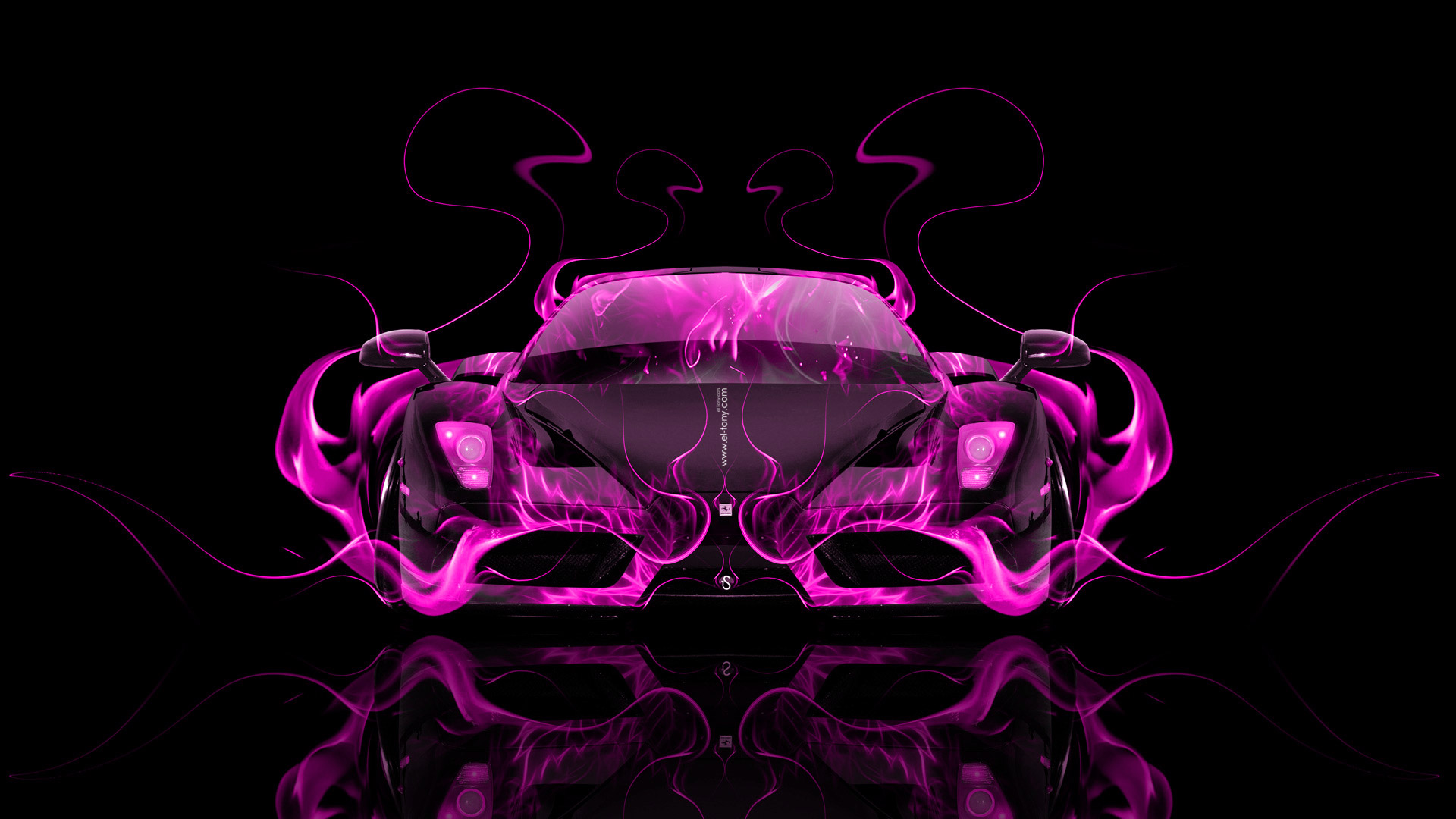 Perfect ... Ferrari Enzo Front Pink Fire Abstract Car 2014  ... Home Design Ideas
