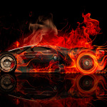Ferrari F80 Side Fire Abstract Car 2014