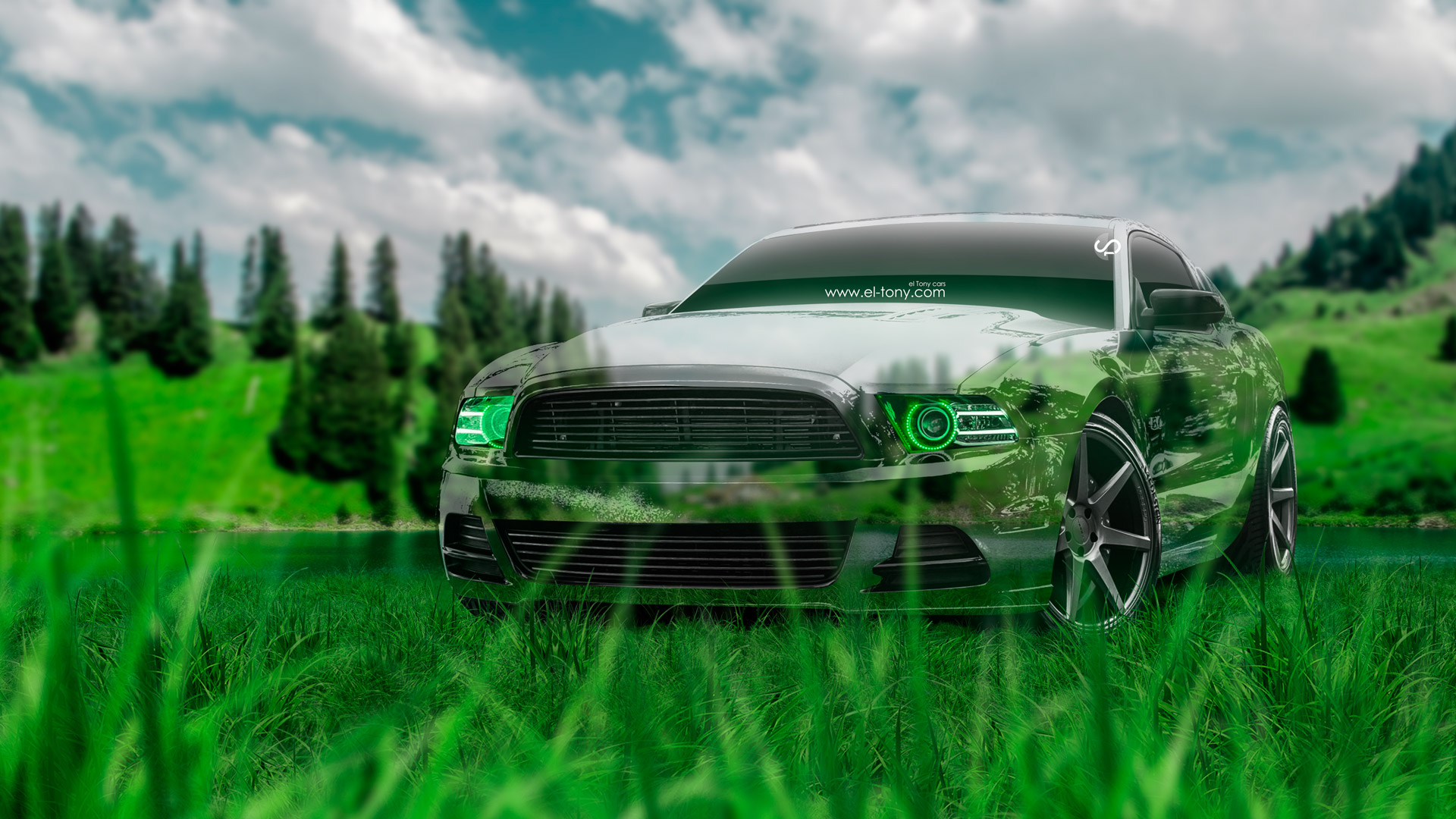 Exceptionnel Ford Mustang GT Muscle Crystal Nature Car 2014