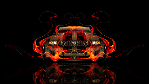 Ford-Mustang-GT-Tuning-Muscle-Front-Fire-Abstract-Car-2014-HD-Wallpapers-design-by-Tony-Kokhan-[www.el-tony.com]