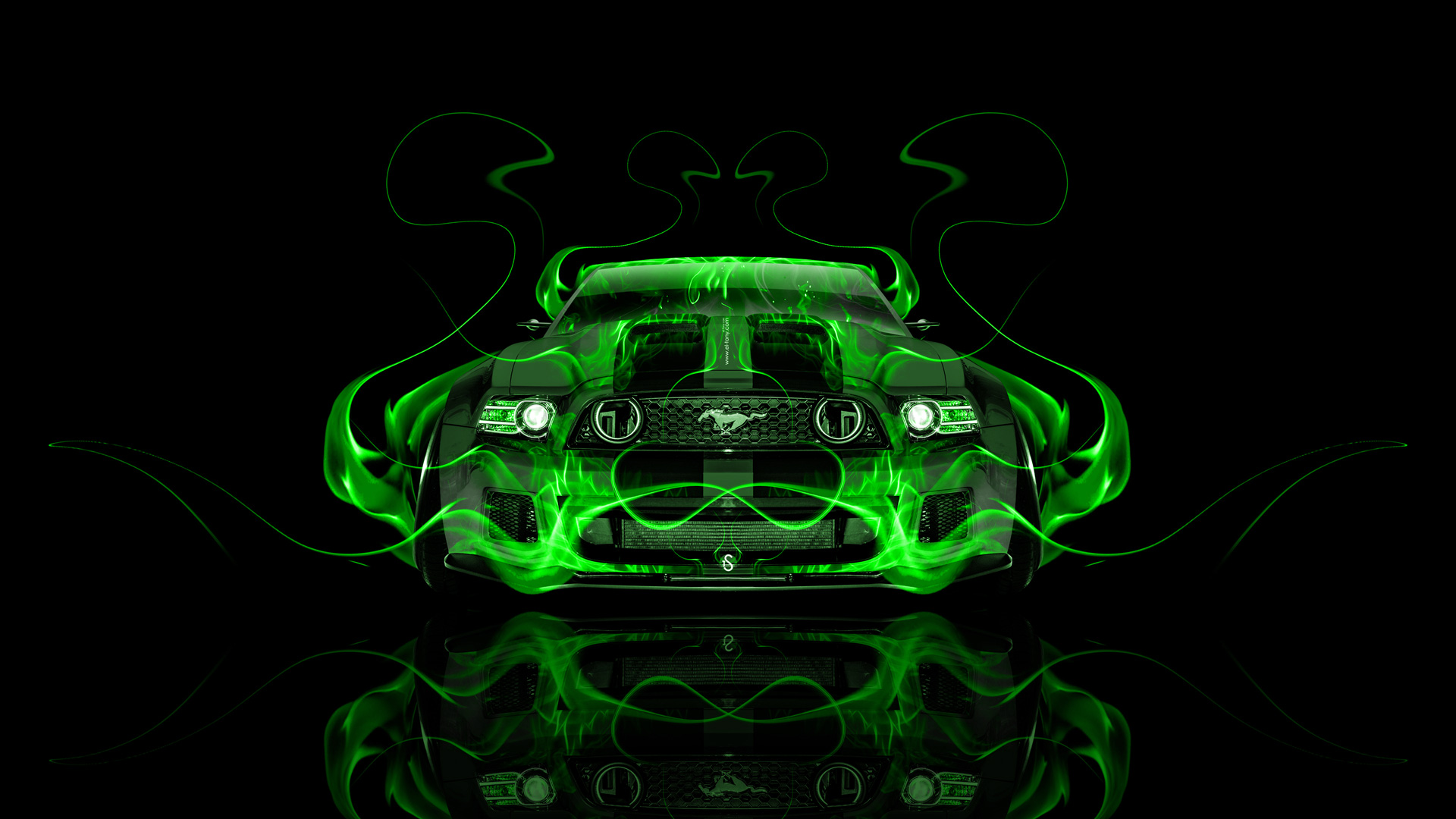 Ford Mustang Gt Tuning Muscle Front Fire Car 2014 El Tony