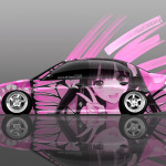 4K Honda Civic JDM Side Anime Girl Aerography Car 2014