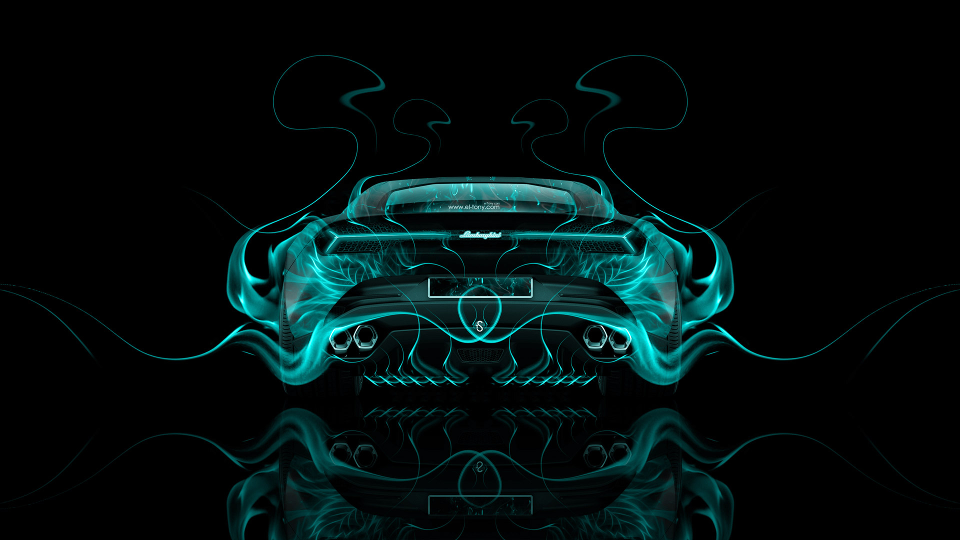High Quality ... Lamborghini Asterion Back Azure Fire Abstract Car 2014  Photo Gallery
