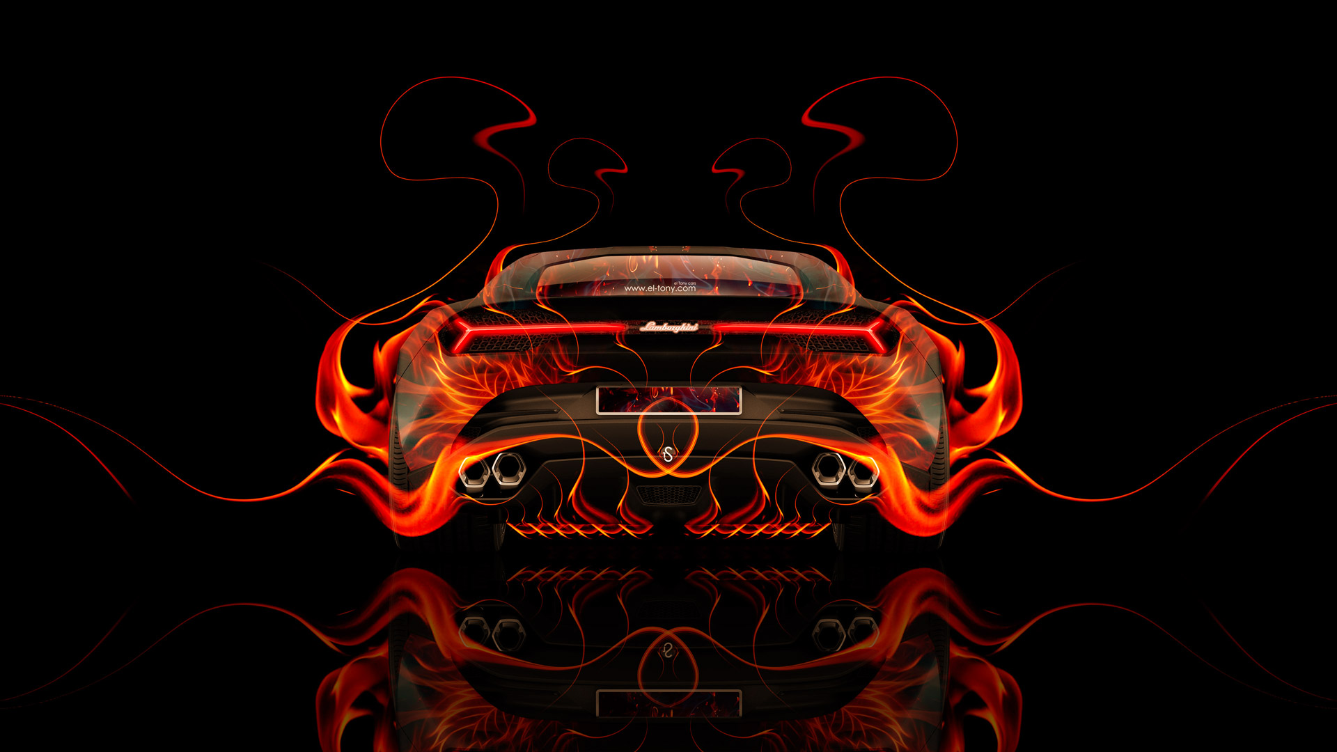 Attrayant Lamborghini Asterion Back Fire Abstract Car 2014