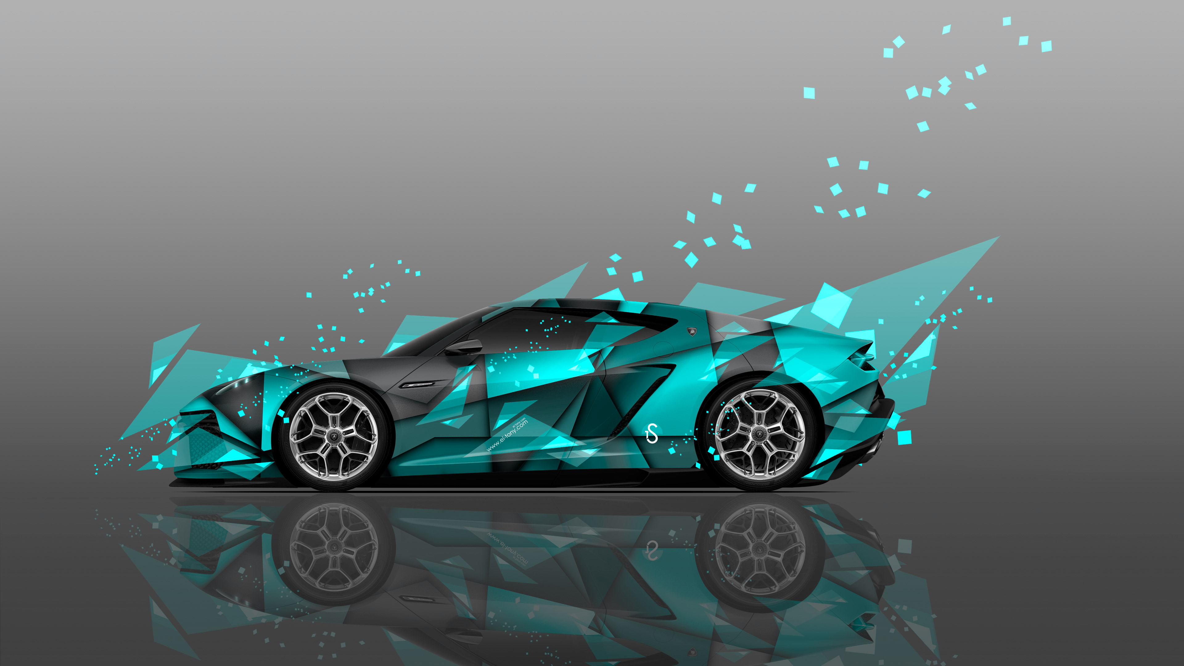Merveilleux ... Lamborghini Asterion Side Abstract Aerography Car 2014 Azure  ...