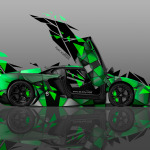 4K Lamborghini Aventador Side Transformer Abstract Car 2014