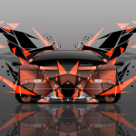 4K Lamborghini Countach Front Abstract Transformer Car 2014