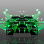 4K Lamborghini Estoque Back Abstract Aerography Car 2014