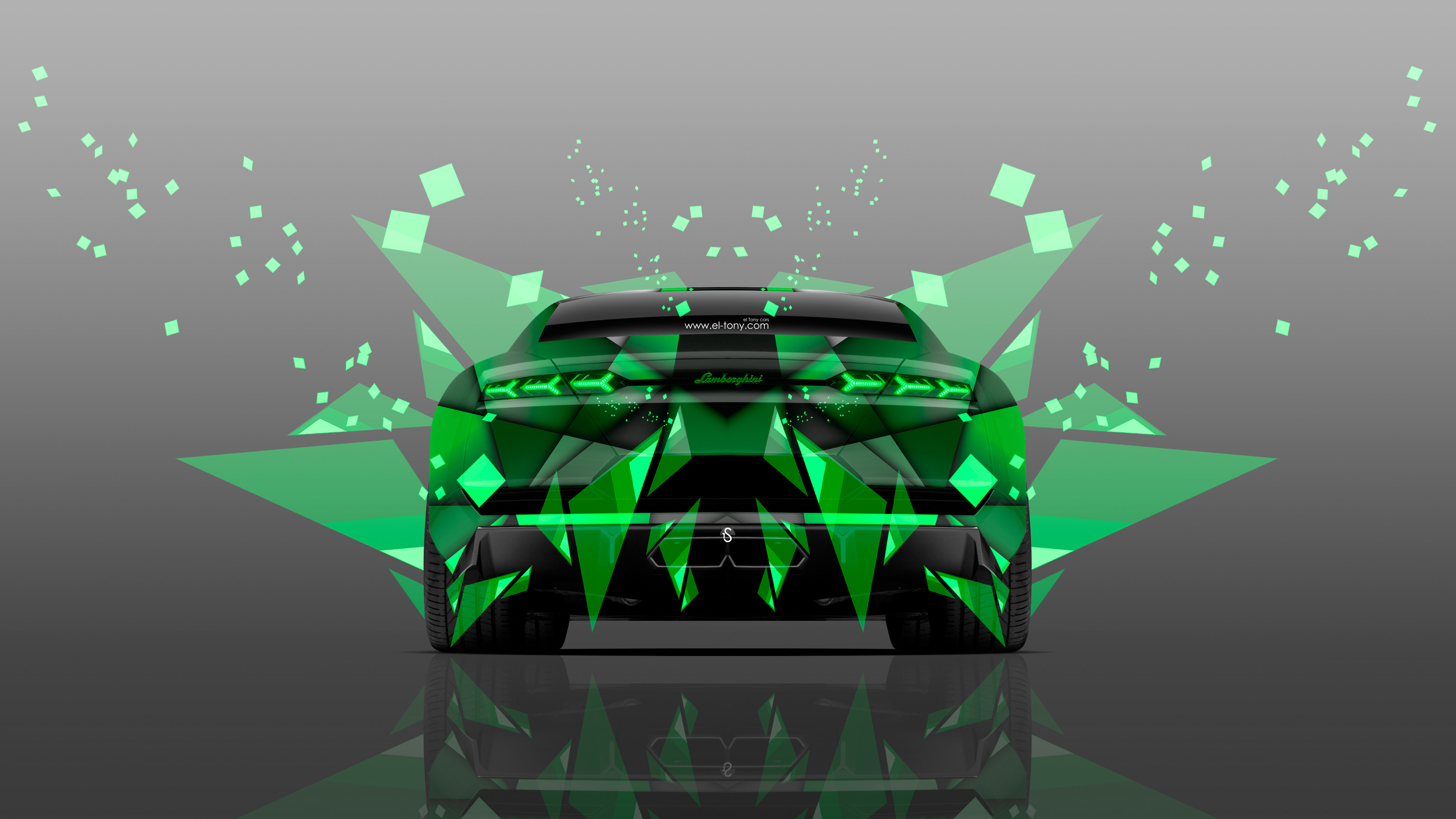Lamborghini-Estoque-Back-Abstract-Aerography-Car-2014-Green-Colors-4K-Wallpapers-design-by-Tony-Kokhan-[www.el-tony.com]