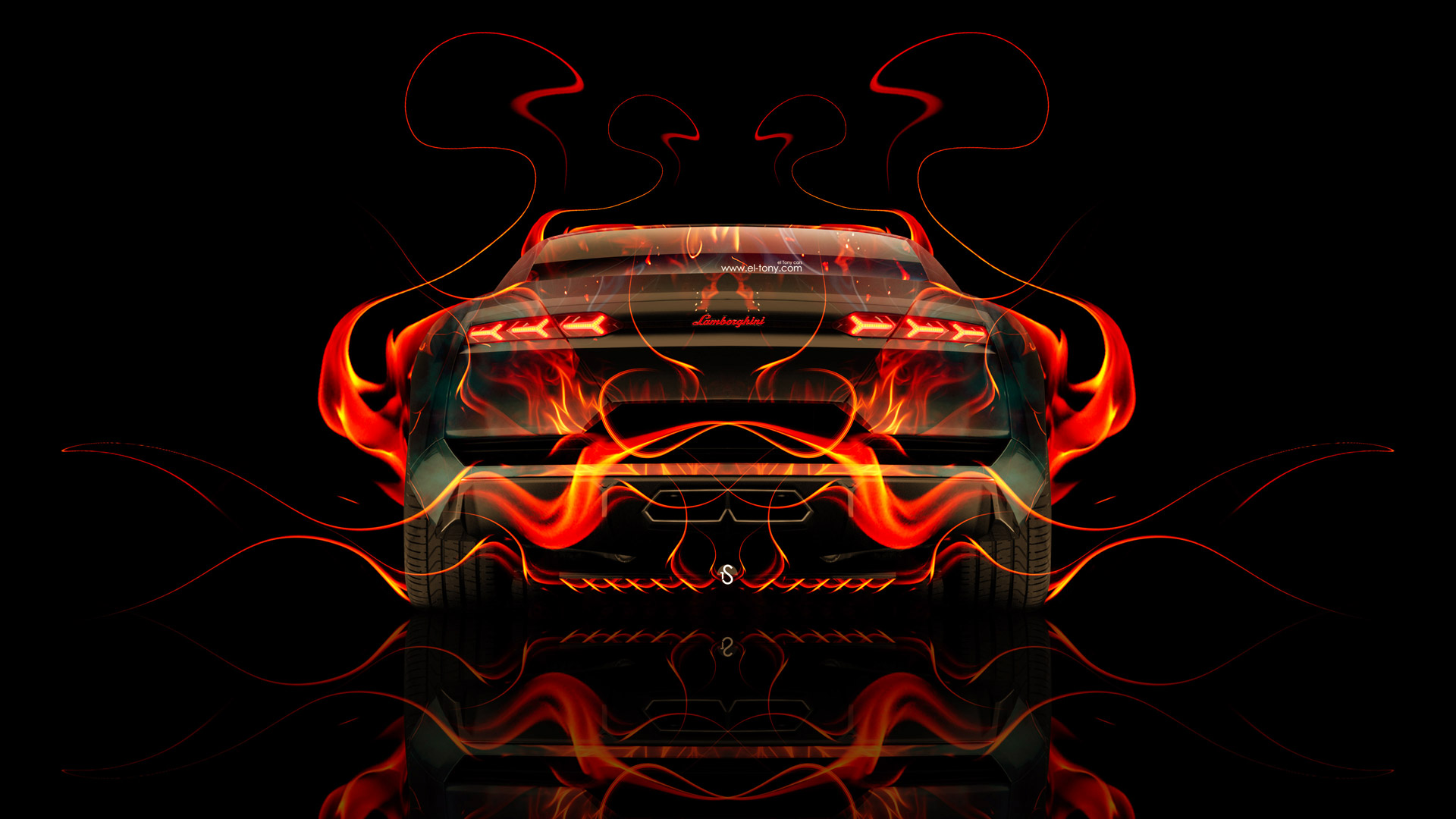 Bon ... Lamborghini Estoque Back Fire Abstract Car 2014