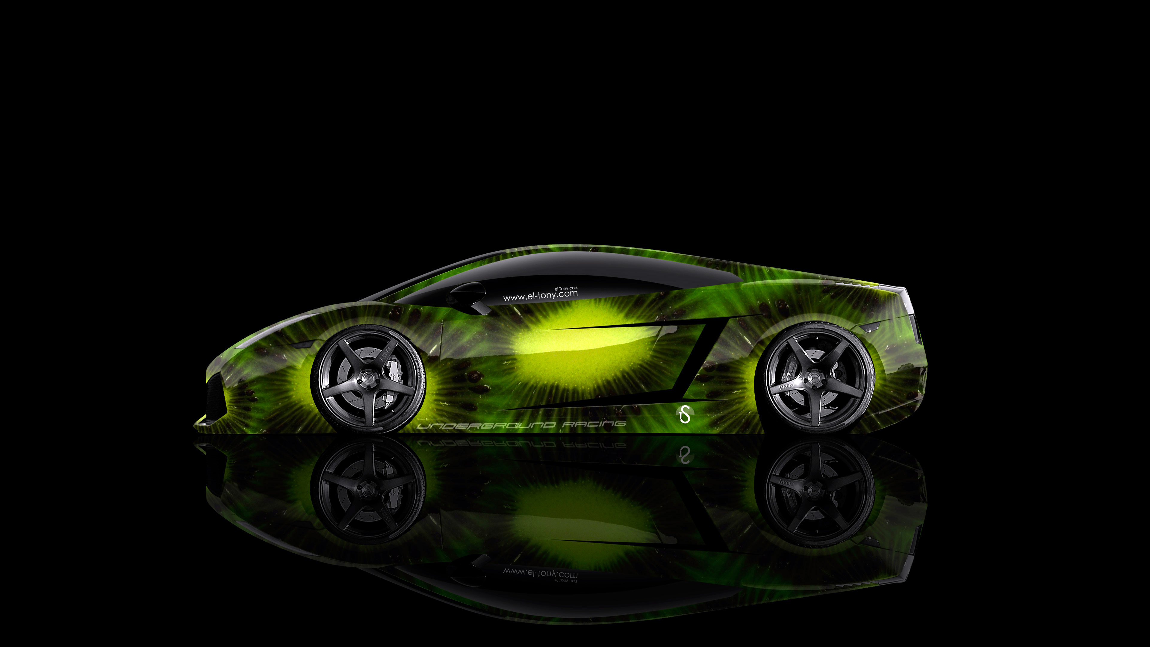 Gentil Lamborghini Gallardo Side Kiwi Aerography Car 2014 Green