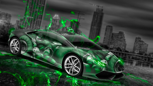 Lamborghini-Huracan-Anime-Aerography-City-Car-2014-Green-Neon-Effects-HD-Wallpapers-design-by-Tony-Kokhan-[www.el-tony.com]