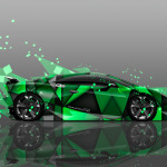 4K Lamborghini Sesto Elemento Abstract Aerography Car 2014