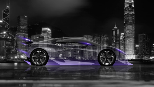 Lamborghini-Sesto-Elemento-Side-Crystal-City-Car-2014-Violet-Neon-4K-Wallpapers-design-by-Tony-Kokhan-[www.el-tony.com]
