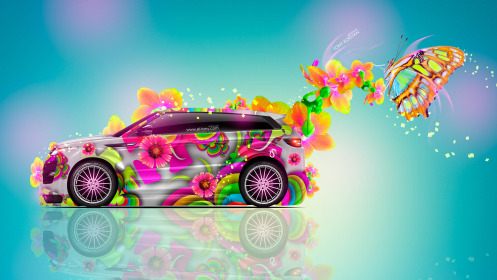 Land-Rover-Evoque-Side-Fantasy-Butterfly-Flowers-Car-2014-Multicolors-HD-Wallpapers-design-by-Tony-Kokhan-[www.el-tony.com]