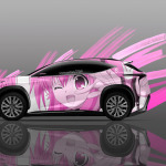 4K Lexus LF-NX Side Anime Aerography Car 2014