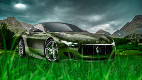 Maserati-Alfieri-Crystal-Nature-Car-2014-Green-Grass-HD-Wallpapers-design-by-Tony-Kokhan-[www.el-tony.com]
