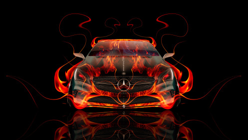 Mercedes-Benz-Coupe-Front-Fire-Abstract-Car-2014-HD-Wallpapers-design-by-Tony-Kokhan-[www.el-tony.com]