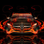 Mercedes-Benz F800 Front Fire Abstract Car 2014