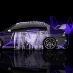 4K Mitsubishi Lancer Evolution JDM Side Anime Aerography Car 2014