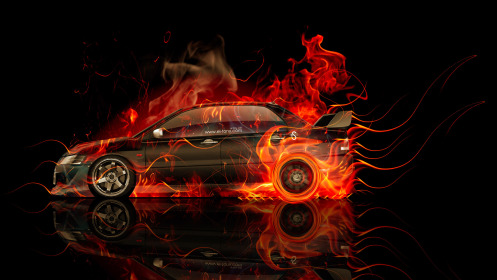 Mitsubishi-Lancer-Evolution-JDM-Side-Fire-Abstract-Car-2014-HD-Wallpapers-design-by-Tony-Kokhan-[www.el-tony.com]