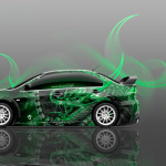 4K Mitsubishi Lancer Evolution X JDM Side Dragon Car 2014