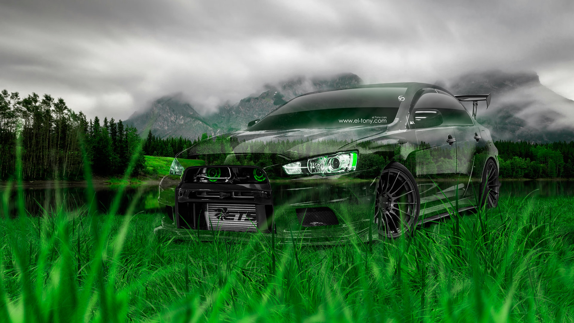 ... Mitsubishi Lancer Evolution X Tuning JDM Crystal Nature Car 2014