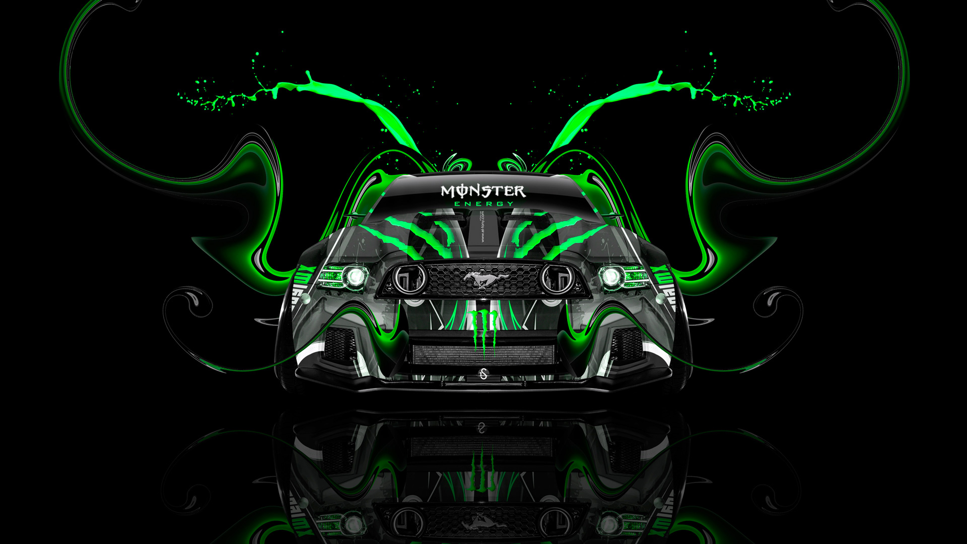 Exceptionnel Monster Energy Ford Mustang GT Tuning Muscle Front