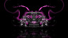Monster-Energy-Ford-Mustang-GT-Tuning-Muscle-Front-Pink-Acid-Plastic-Car-2014-HD-Wallpapers-design-by-Tony-Kokhan-[www.el-tony.com]