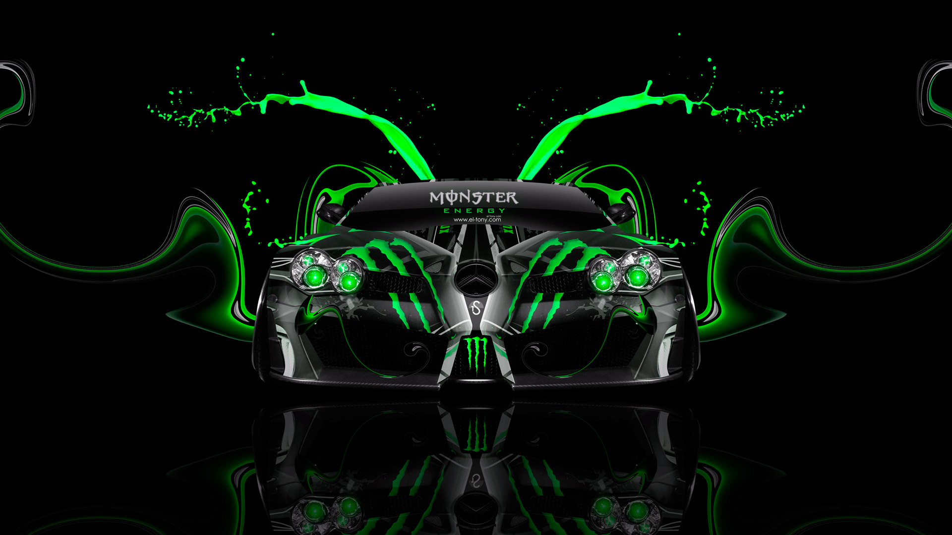 Monster Energy Mercedes Benz SLR McLaren Mansory Front