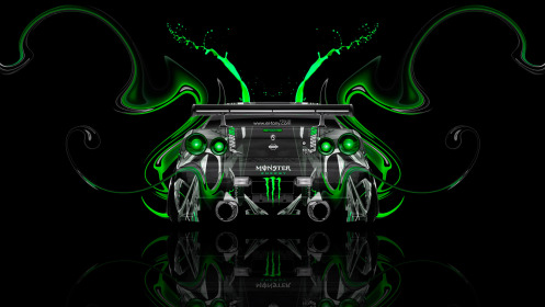 Monster-Energy-Nissan-Skyline-GTR-R34-JDM-Back-Green-Plastic-Car-2014-Photoshop-Art-HD-Wallpapers-design-by-Tony-Kokhan-[www.el-tony.com]