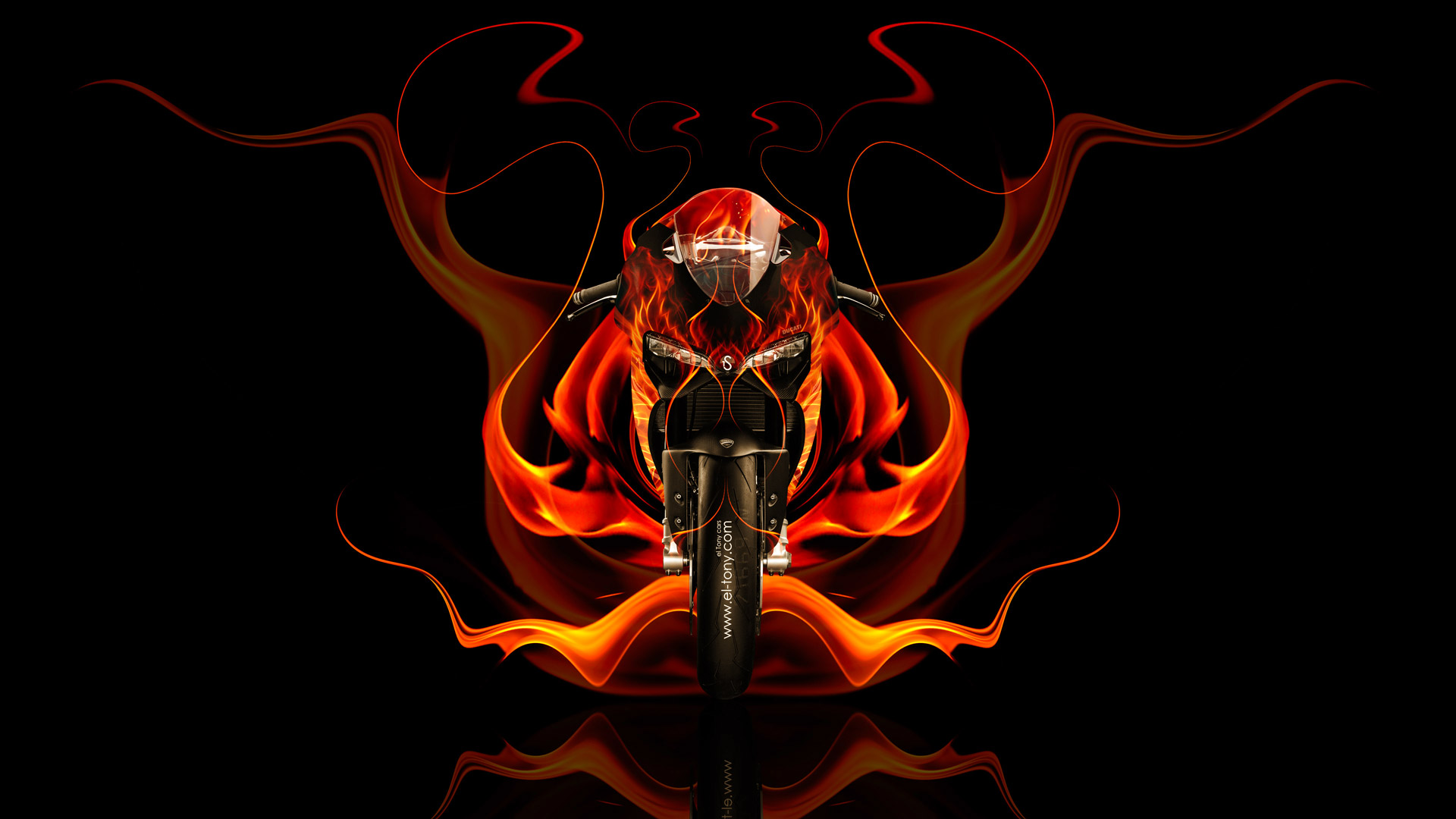 Ordinaire Ducati 1199 Front Fire Abstract Bike 2014