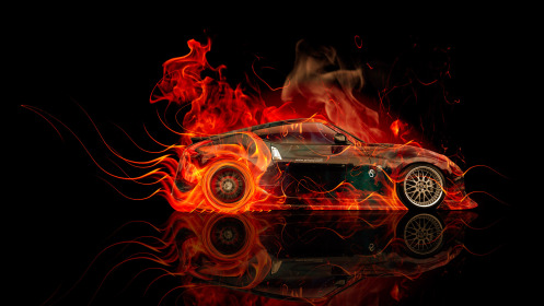 Nissan-370Z-JDM-Side-Fire-Abstract-Car-2014-HD-Wallpapers-design-by-Tony-Kokhan-[www.el-tony.com]