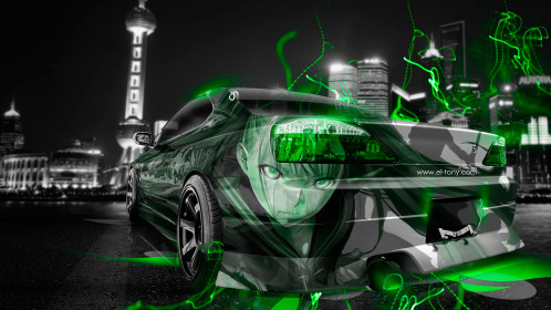 Nissan-Silvia-S15-JDM-Anime-Aerography-Girl-City-Car-2014-Green-Neon-Effects-HD-Wallpapers-design-by-Tony-Kokhan-www.el-tony.com_