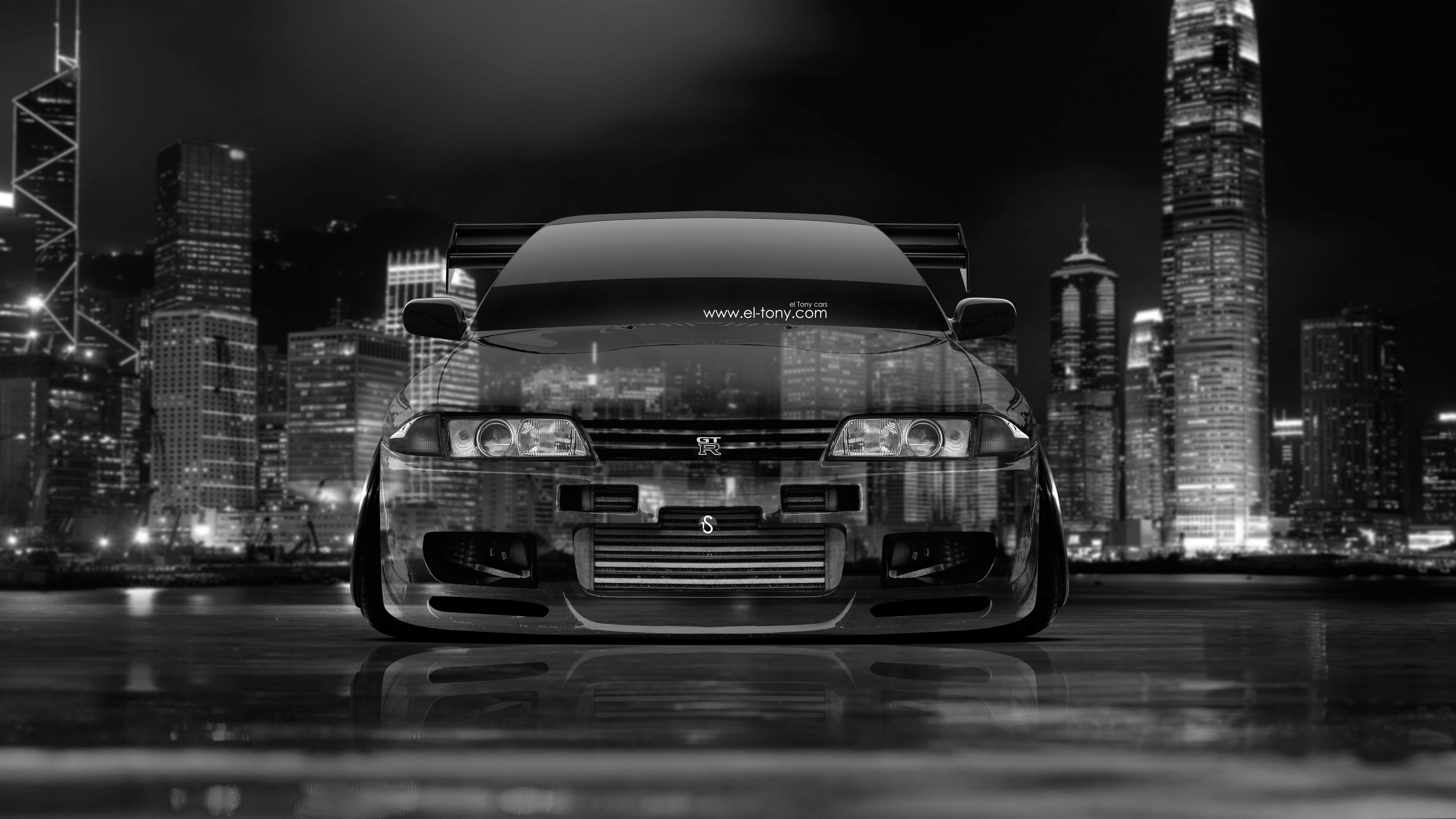 Superb Nissan Skyline GTR R32 JDM Front Crystal City
