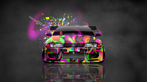 Nissan-Skyline-GTR-R32-JDM-Front-Domo-Kun-Toy-Car-2014-Multicolors-HD-Wallpapers-design-by-Tony-Kokhan-[www.el-tony.com]