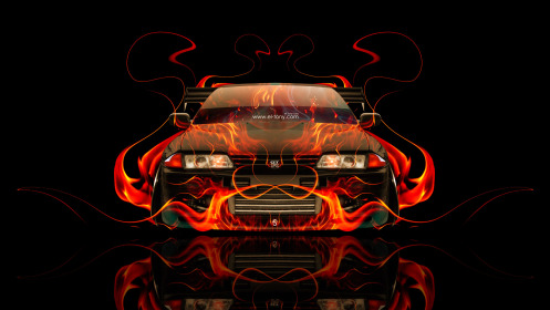 Nissan-Skyline-GTR-R32-JDM-Front-Fire-Abstract-Car-2014-Art-HD-Wallpapers-design-by-Tony-Kokhan-[www.el-tony.com]