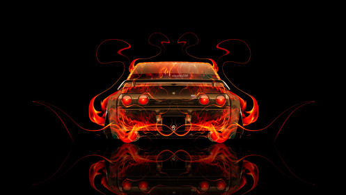 Nissan-Skyline-GTR-R32-JDM-Tuning-Back-Fire-Abstract-Car-2014-HD-Wallpapers-design-by-Tony-Kokhan-[www.el-tony.com]