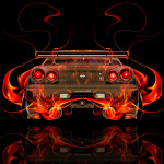 Nissan Skyline GTR R34 JDM Back Fire Abstract Car 2014
